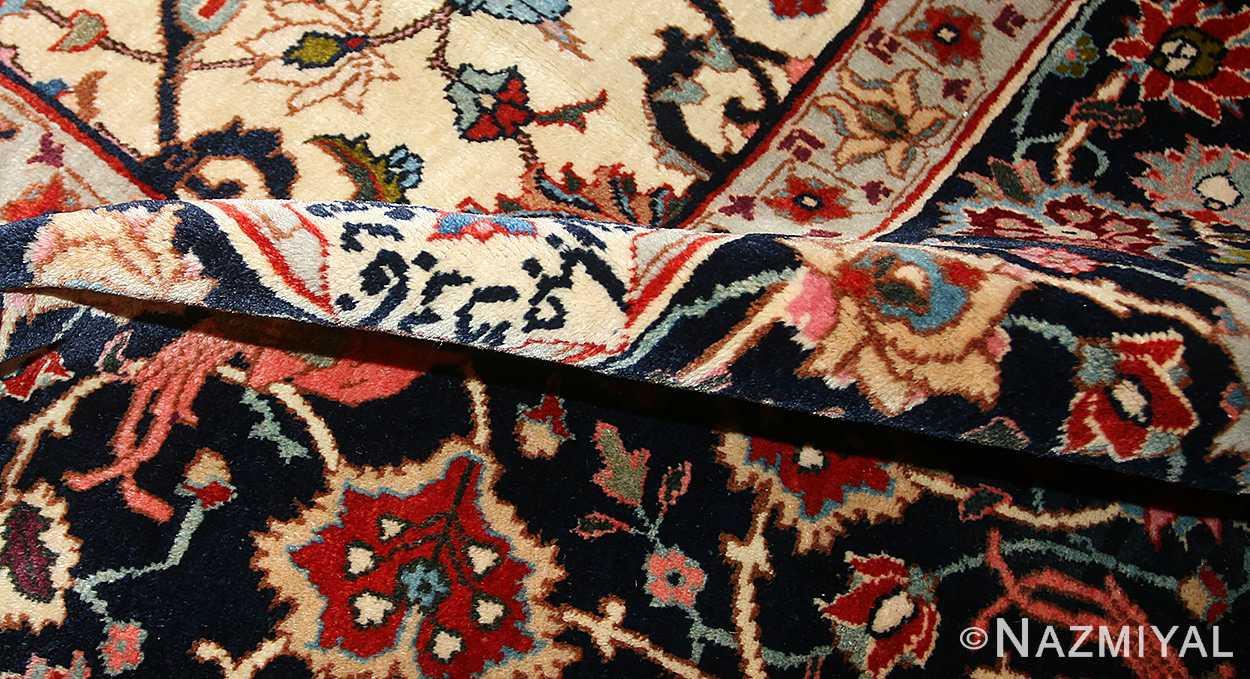 antique persian tabriz rug 49064 pile Nazmiyal