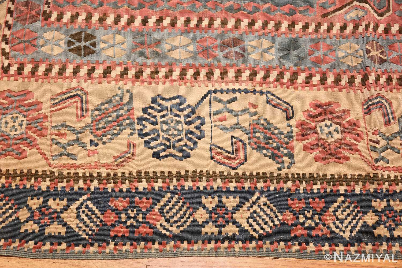Prayer Design Turkish Kilim Rug 49067 Nazmiyal Antique Rugs