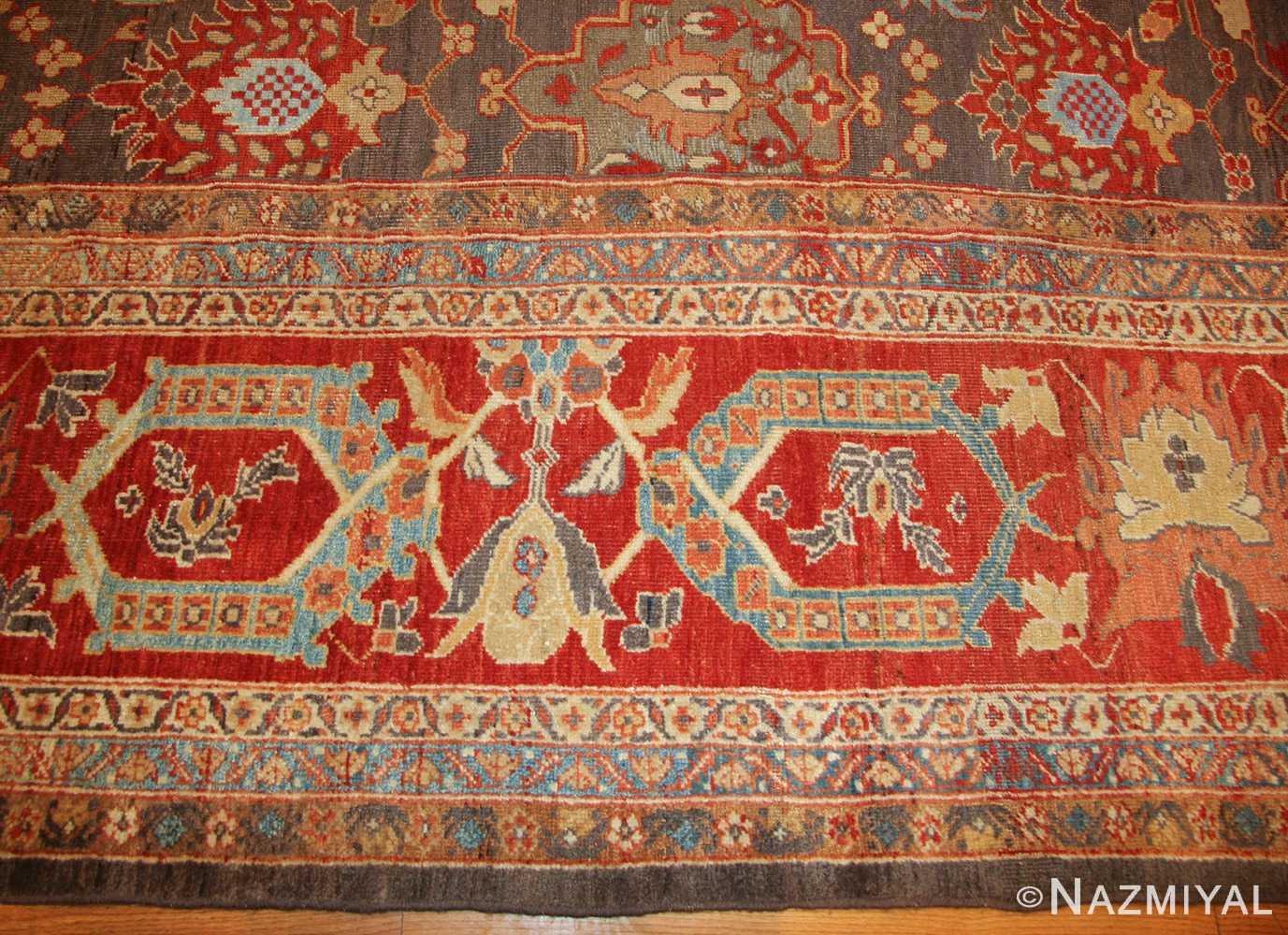 breathtaking gray persian sultanabad rug 49032 border Nazmiyal