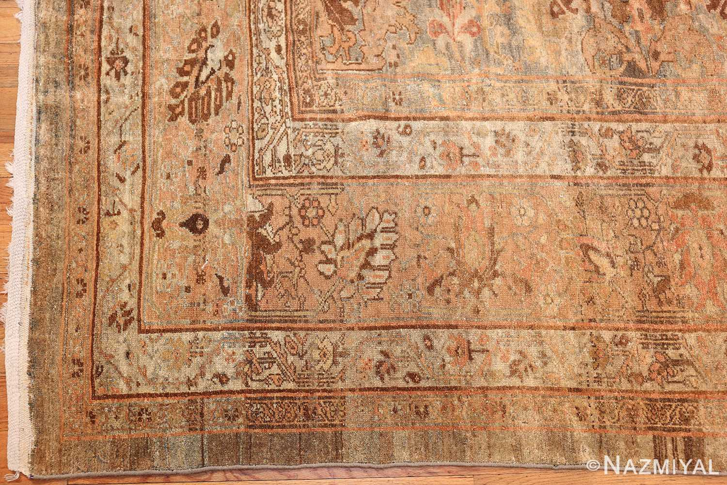 large light gray persian malayer rug 48882 corner Nazmiyal