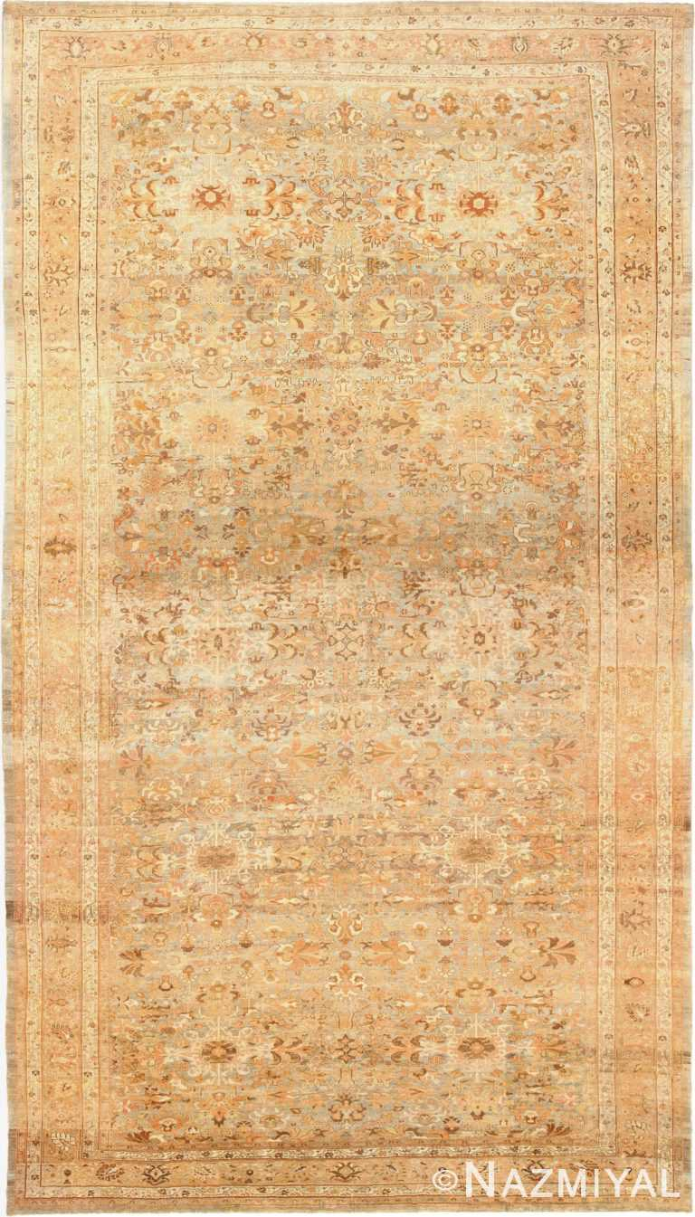 Large Light Gray Persian Malayer Rug 48882 by nazmiyal