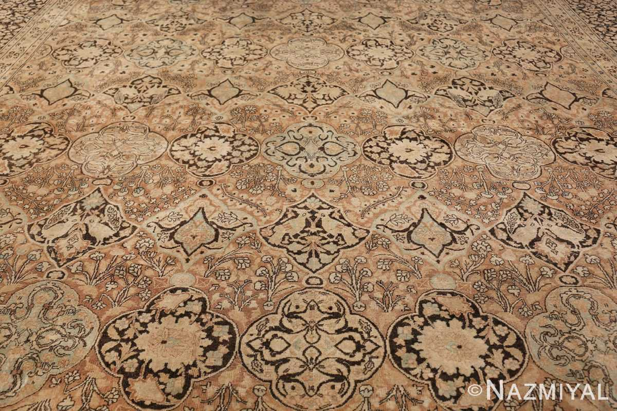 Large Oversized Antique Persian Khorassan Rug 48922 Field Design Nazmiyal