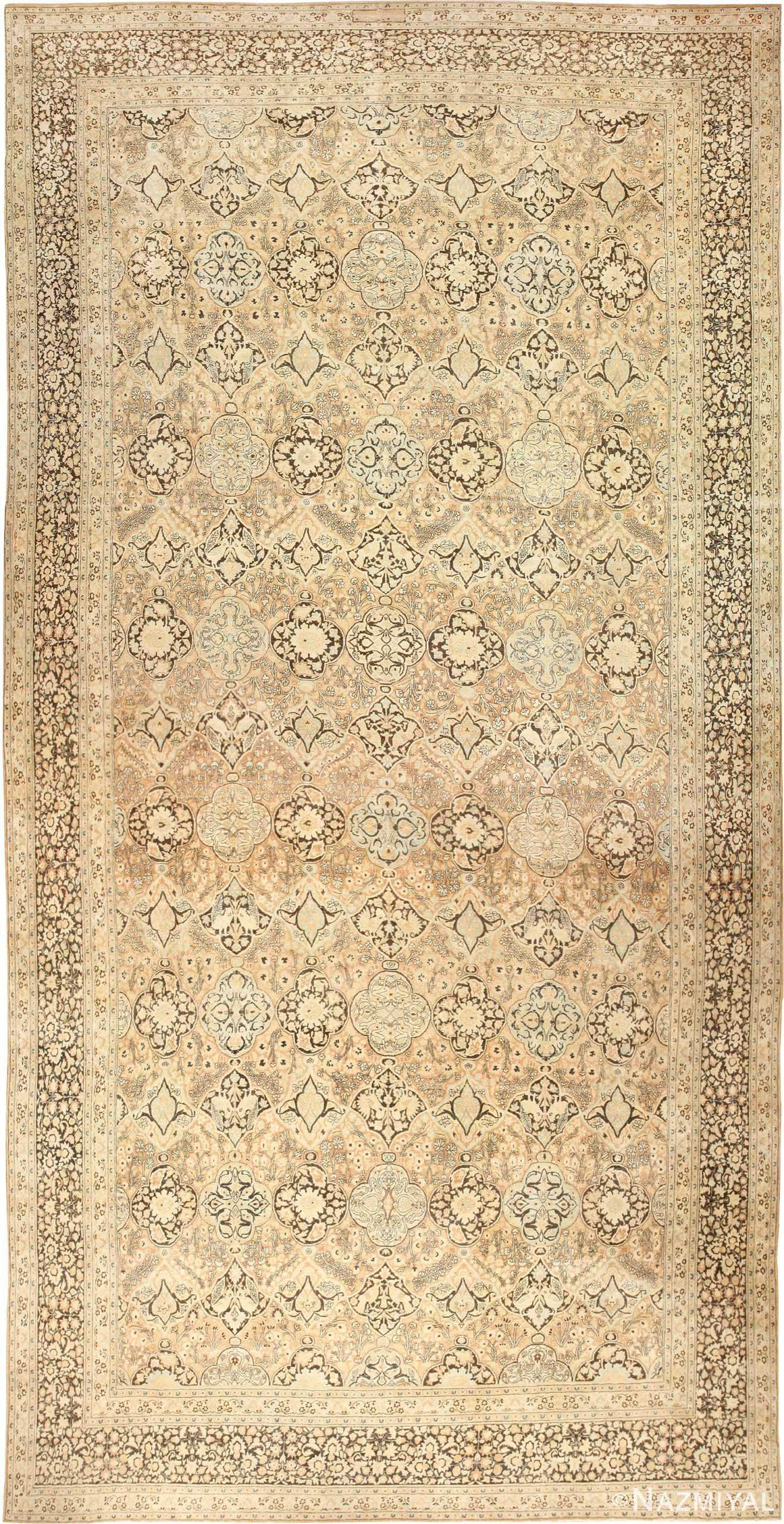 Large Oversized Antique Persian Khorassan Rug 48922 Nazmiyal