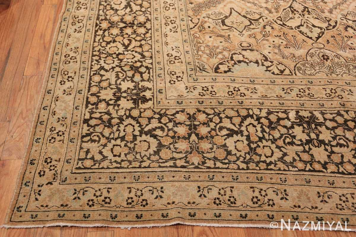 Large Oversized Antique Persian Khorassan Rug 48922 Side Corner Nazmiyal