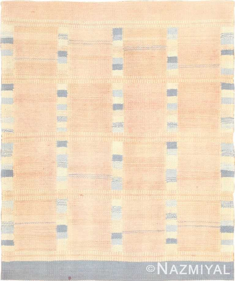 Modern Swedish Kilim Rug 49051 by Nazmiyal