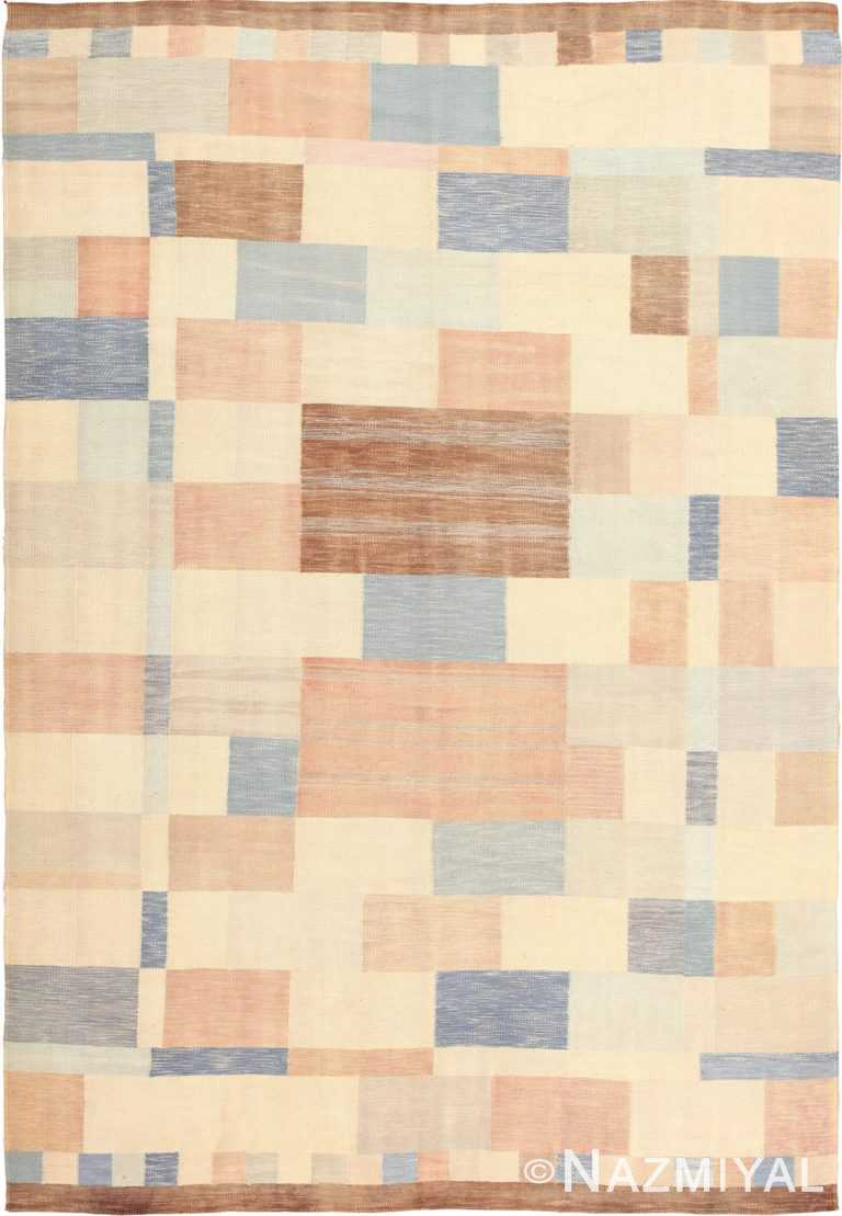 Modern Swedish Kilim Rug 49049 by Nazmiyal