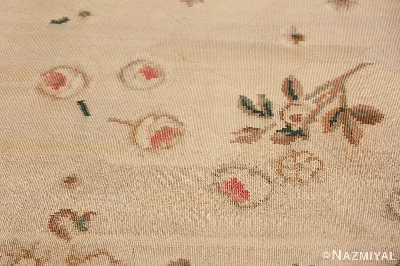Vintage Romanian Bessarabian Kilim Rug 48872 Flowers Falling Nazmiyal
