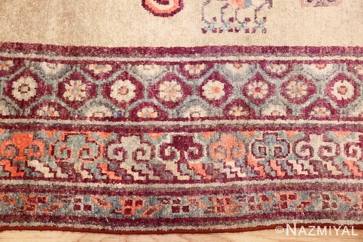 yellow silk khotan rug 49028 border Nazmiyal