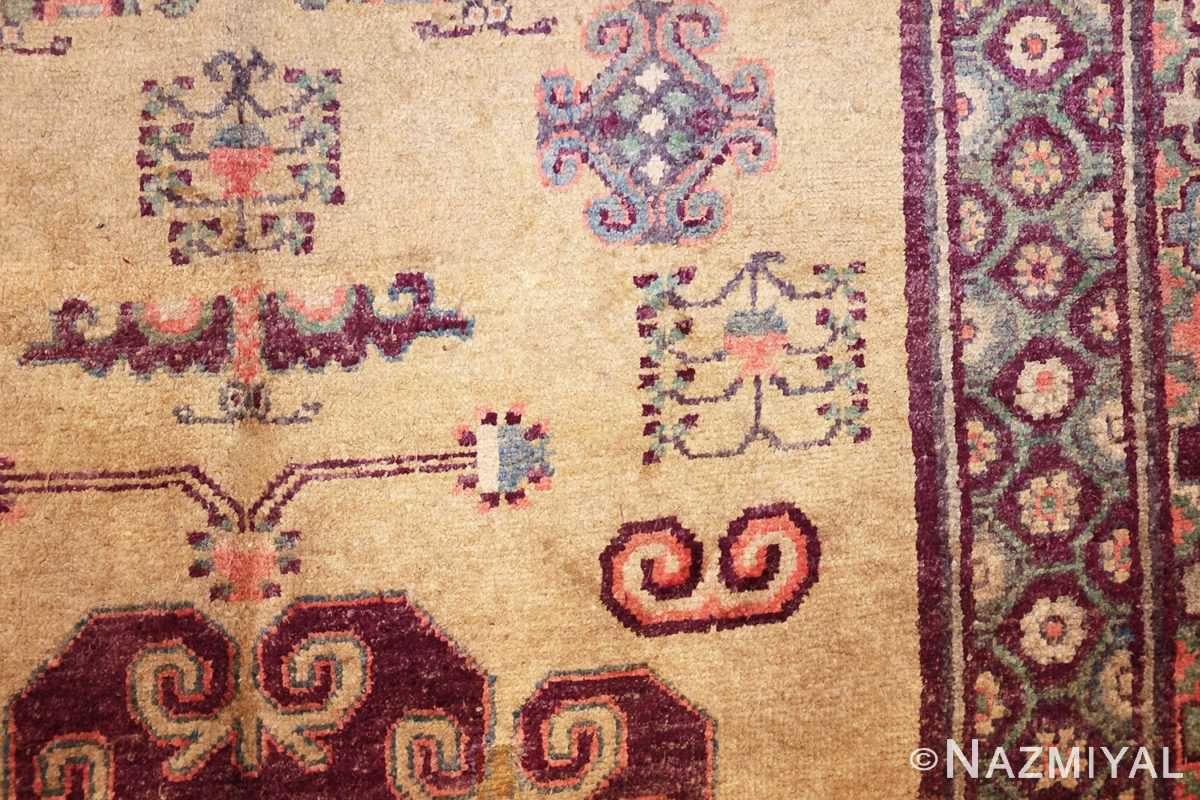 yellow silk khotan rug 49028 design Nazmiyal