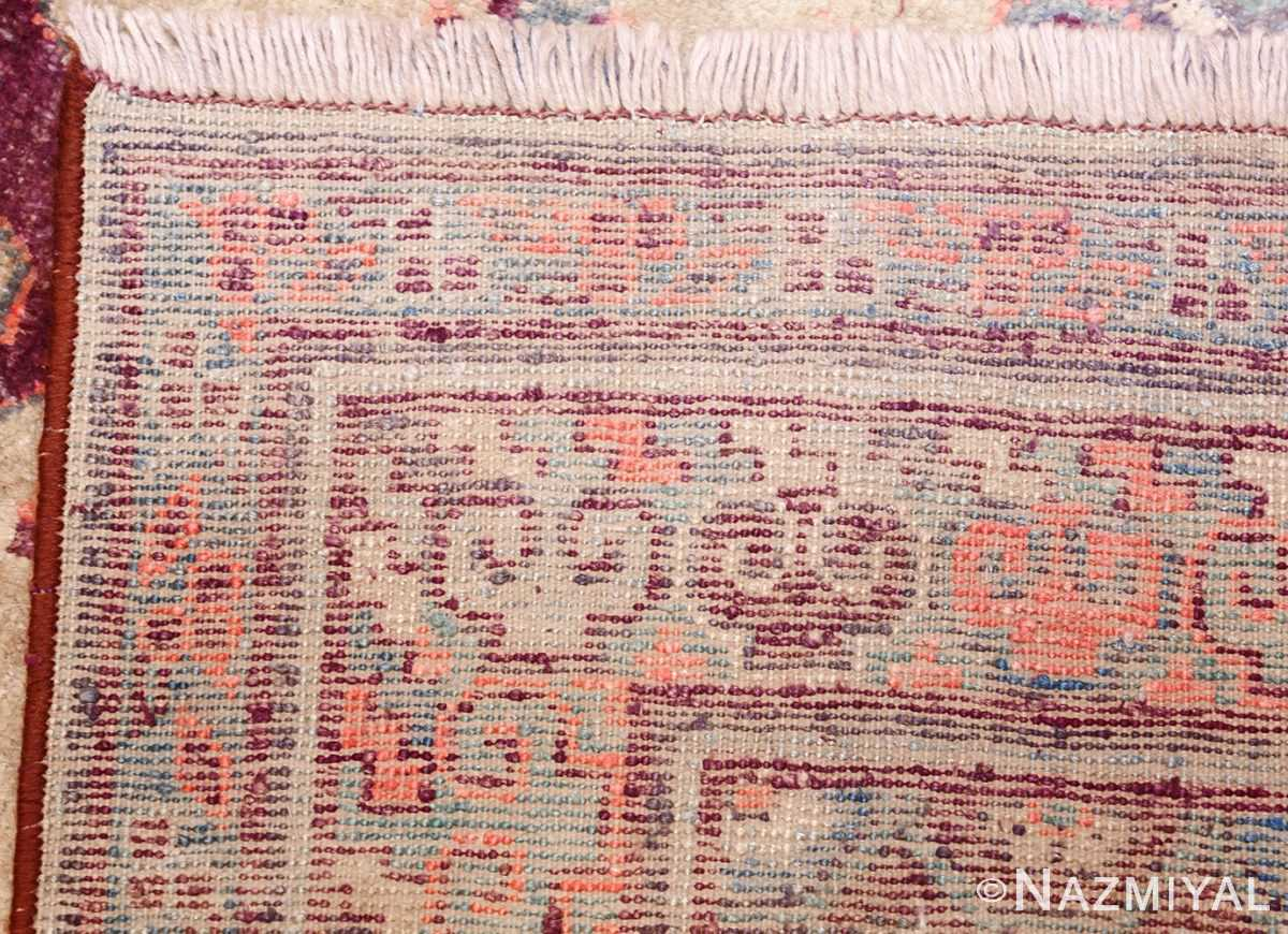 yellow silk khotan rug 49028 weave Nazmiyal
