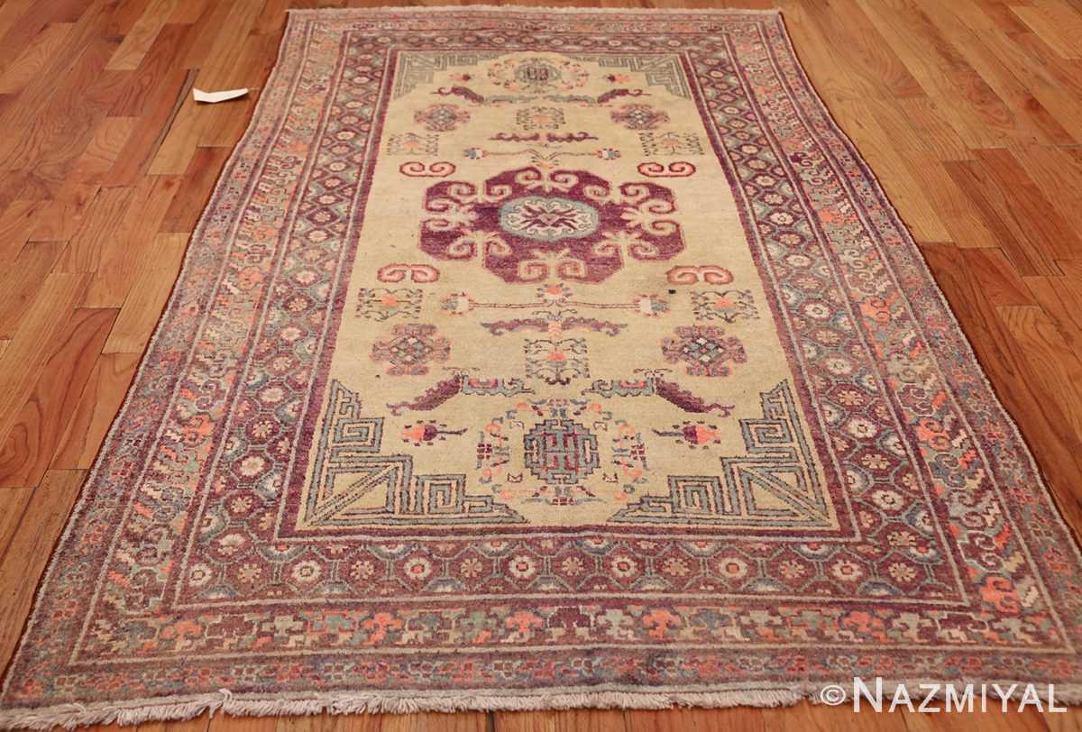 yellow silk khotan rug 49028 whole Nazmiyal