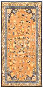17th Century Antique Chinese Ningxia Rug 48805