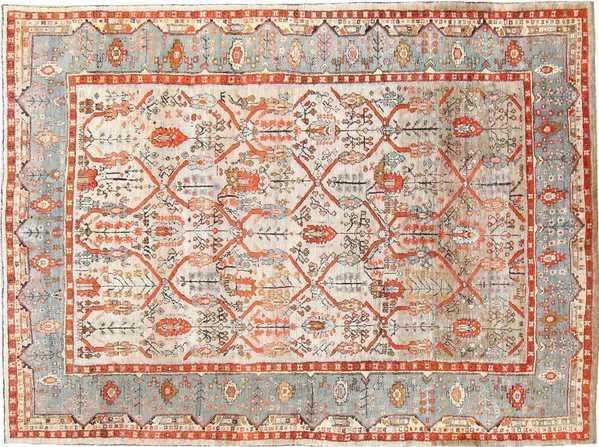 Large Antique Turkish Ghiordes Carpet
