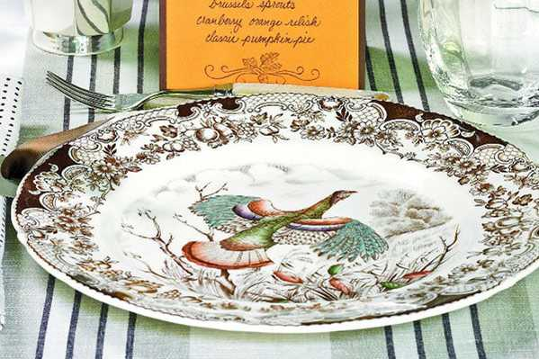 Antique Turkey Plates for Thanksgiving