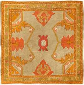Antique Turkish Oushak Rug 49061