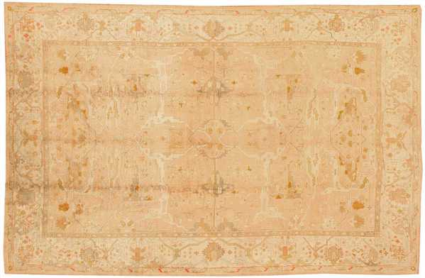 Impressive Antique Turkish Oushak Rug with Classic Arabesques and Vines Motifs