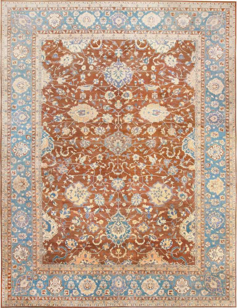Large Decorative Antique Indian Agra Rug by Nazmiyal