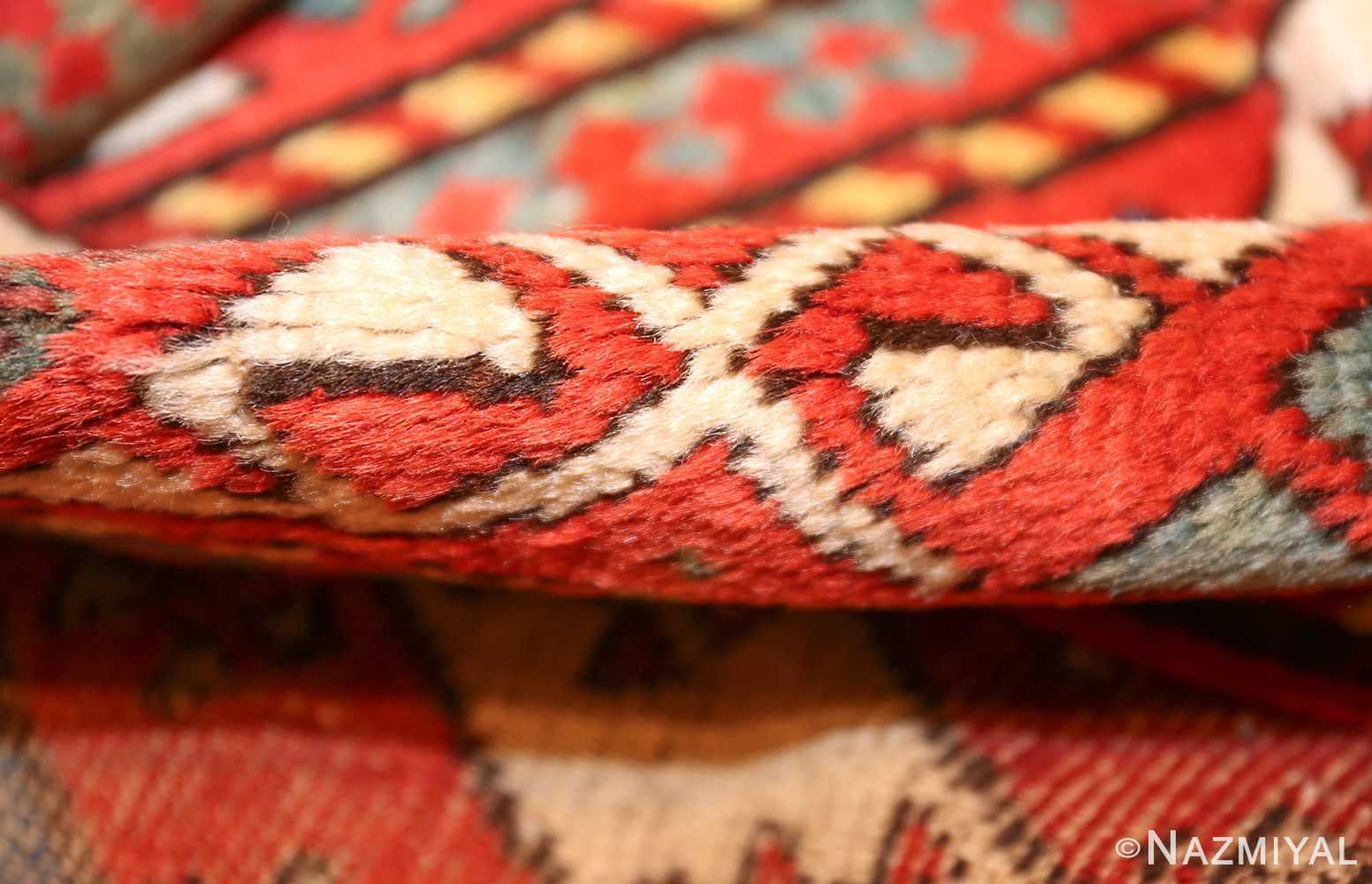 antique caucasian genghi prayer rug 49096 pile Nazmiyal