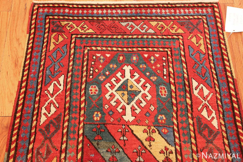 antique caucasian genghi prayer rug 49096 top Nazmiyal