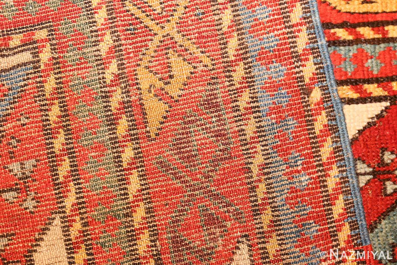antique caucasian genghi prayer rug 49096 weave Nazmiyal
