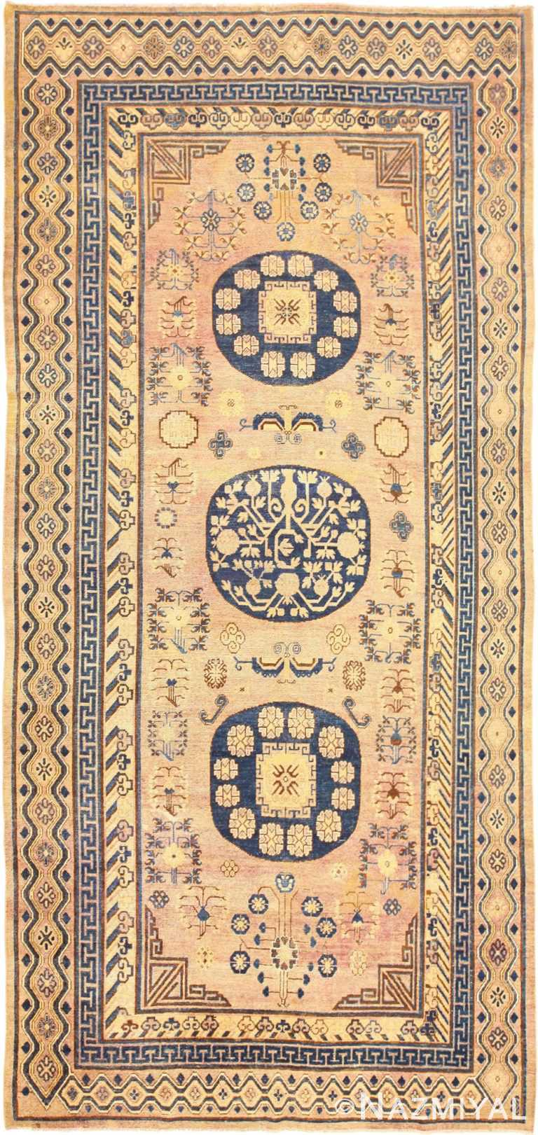 Antique Soft Color Khotan Area Rug #49047 by Nazmiyal Antique Rugs