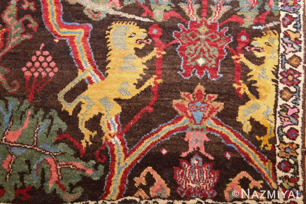 antique persian bidjar sampler rug 49097 bears Nazmiyal
