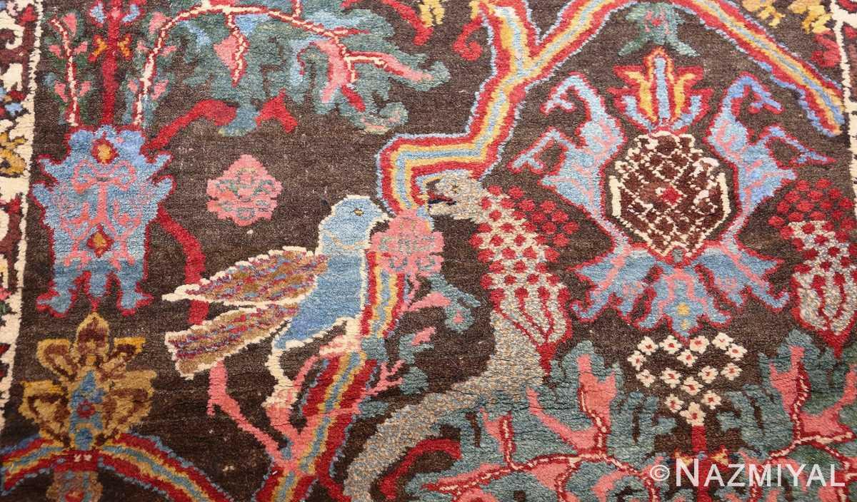 antique persian bidjar sampler rug 49097 bird Nazmiyal
