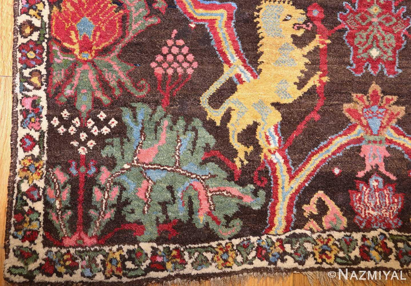 antique persian bidjar sampler rug 49097 corner Nazmiyal