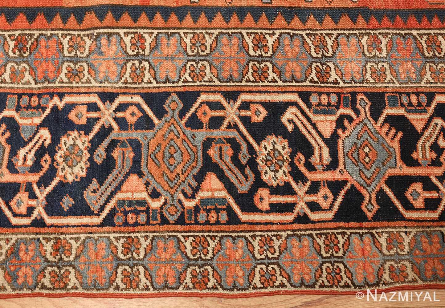 antique persian heriz serapi rug 48632 border Nazmiyal