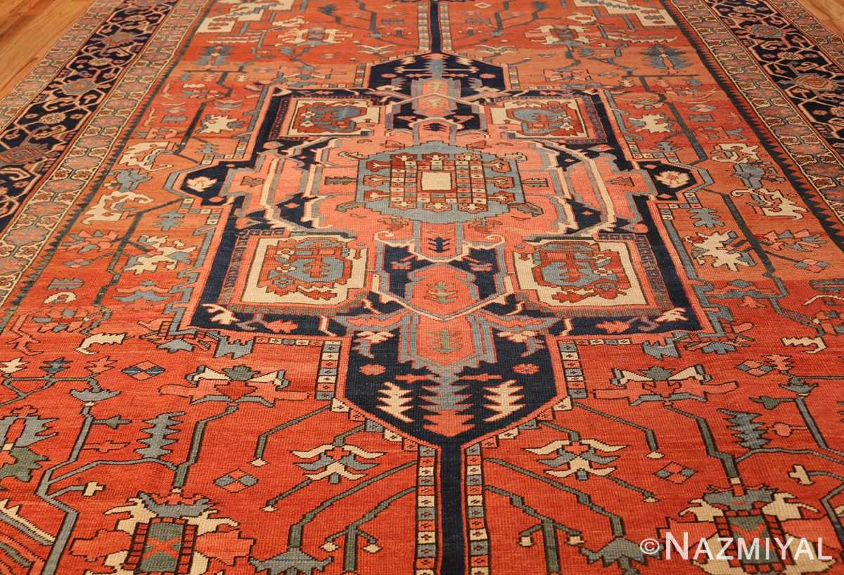 antique persian heriz serapi rug 48632 field Nazmiyal