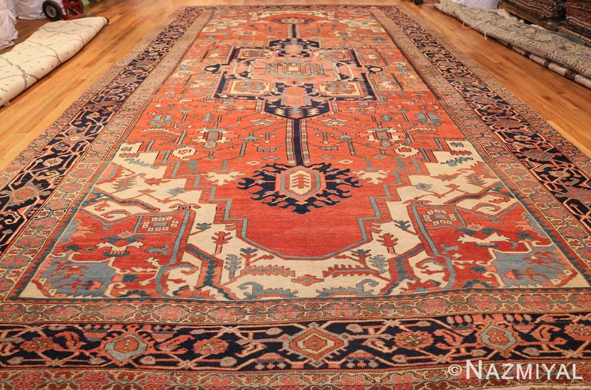 antique persian heriz serapi rug 48632 full Nazmiyal