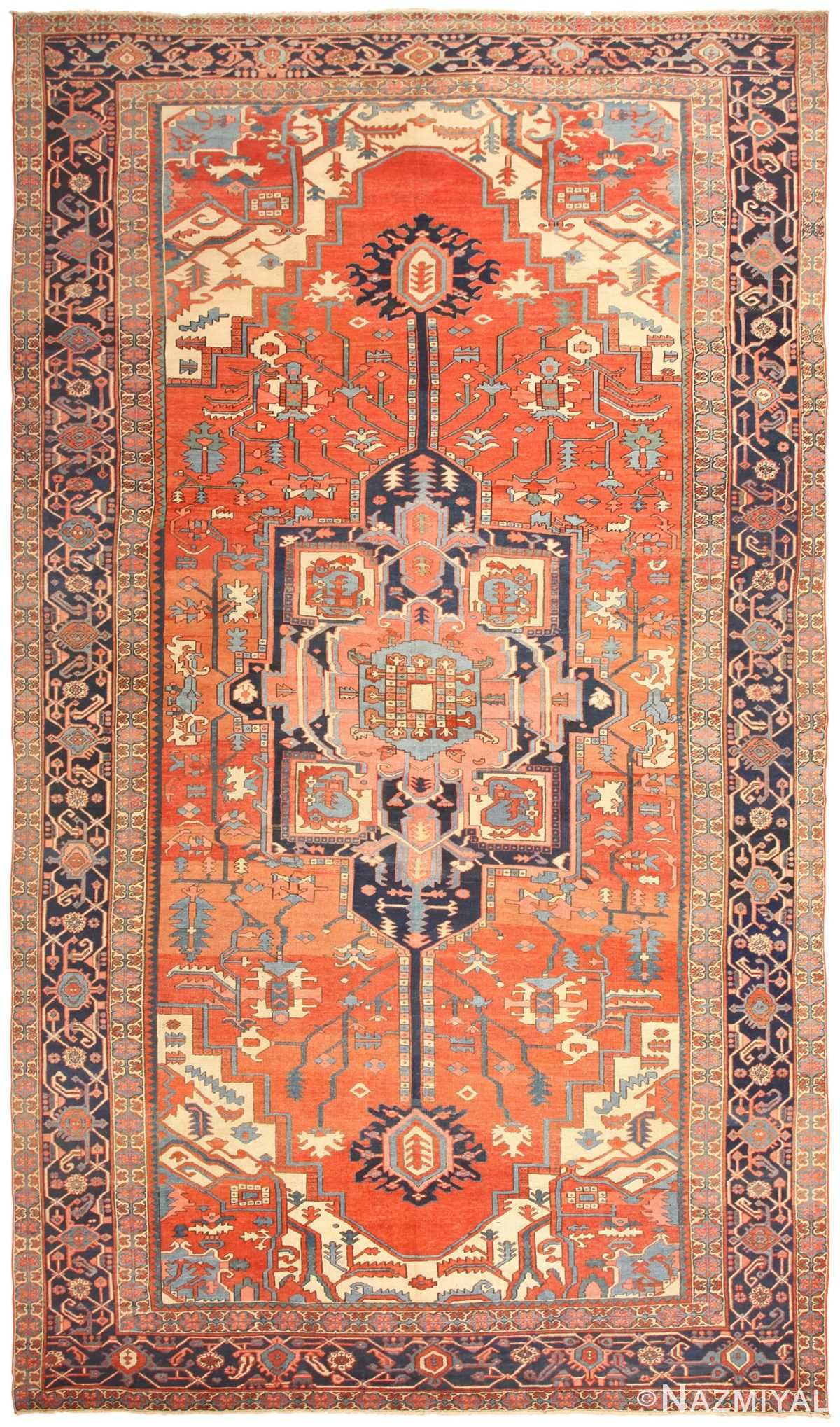 Antique Persian Heriz Serapi Rug 48632