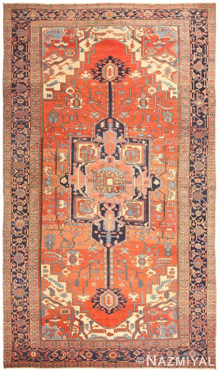 Antique Persian Heriz Serapi Rug 48632