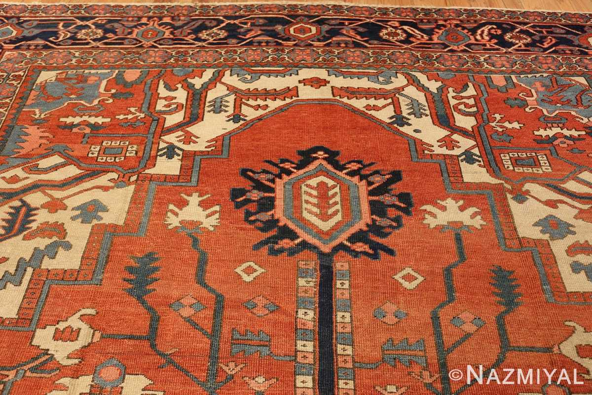 antique persian heriz serapi rug 48632 pattern Nazmiyal