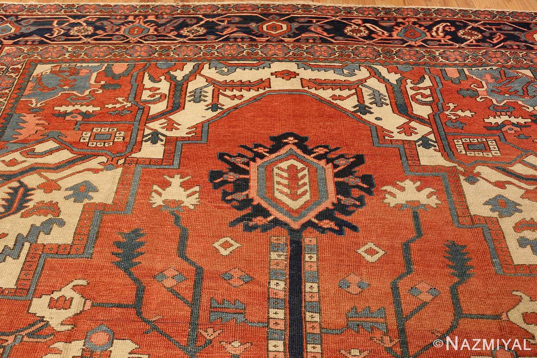 antique persian heriz serapi rug 48632 pattern Nazmiyal
