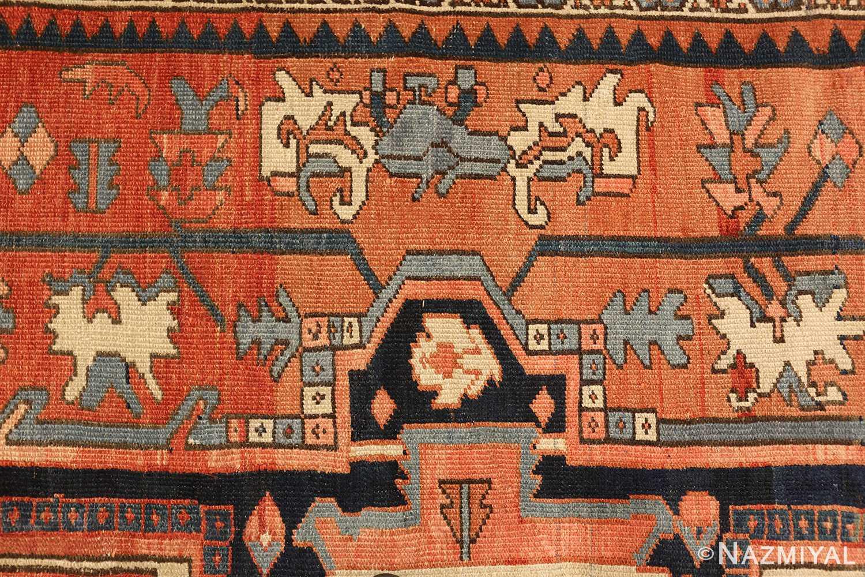 antique persian heriz serapi rug 48632 reds Nazmiyal