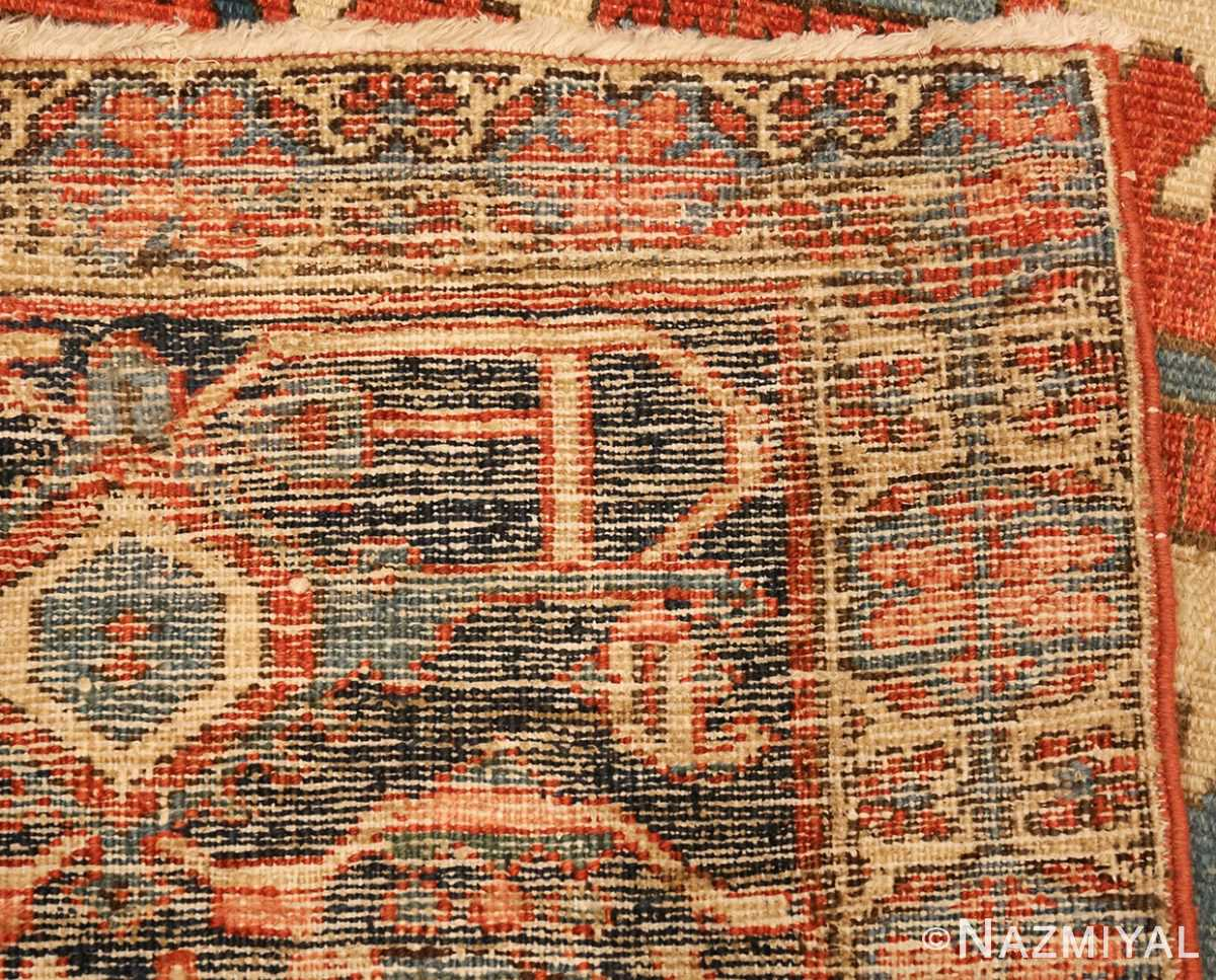 antique persian heriz serapi rug 48632 weave Nazmiyal