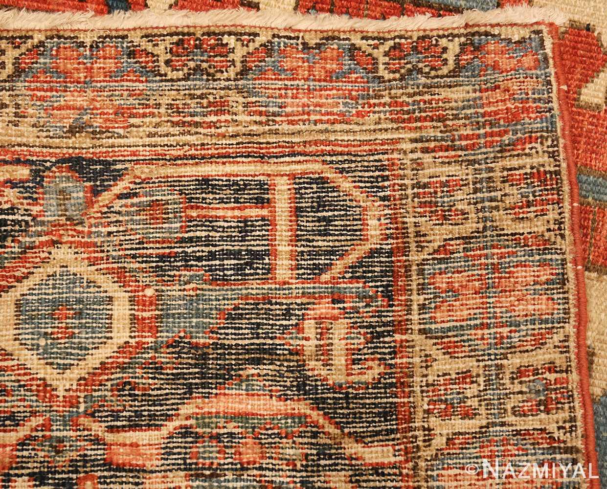 antique persian heriz serapi rug 48632 weave Nazmiyal