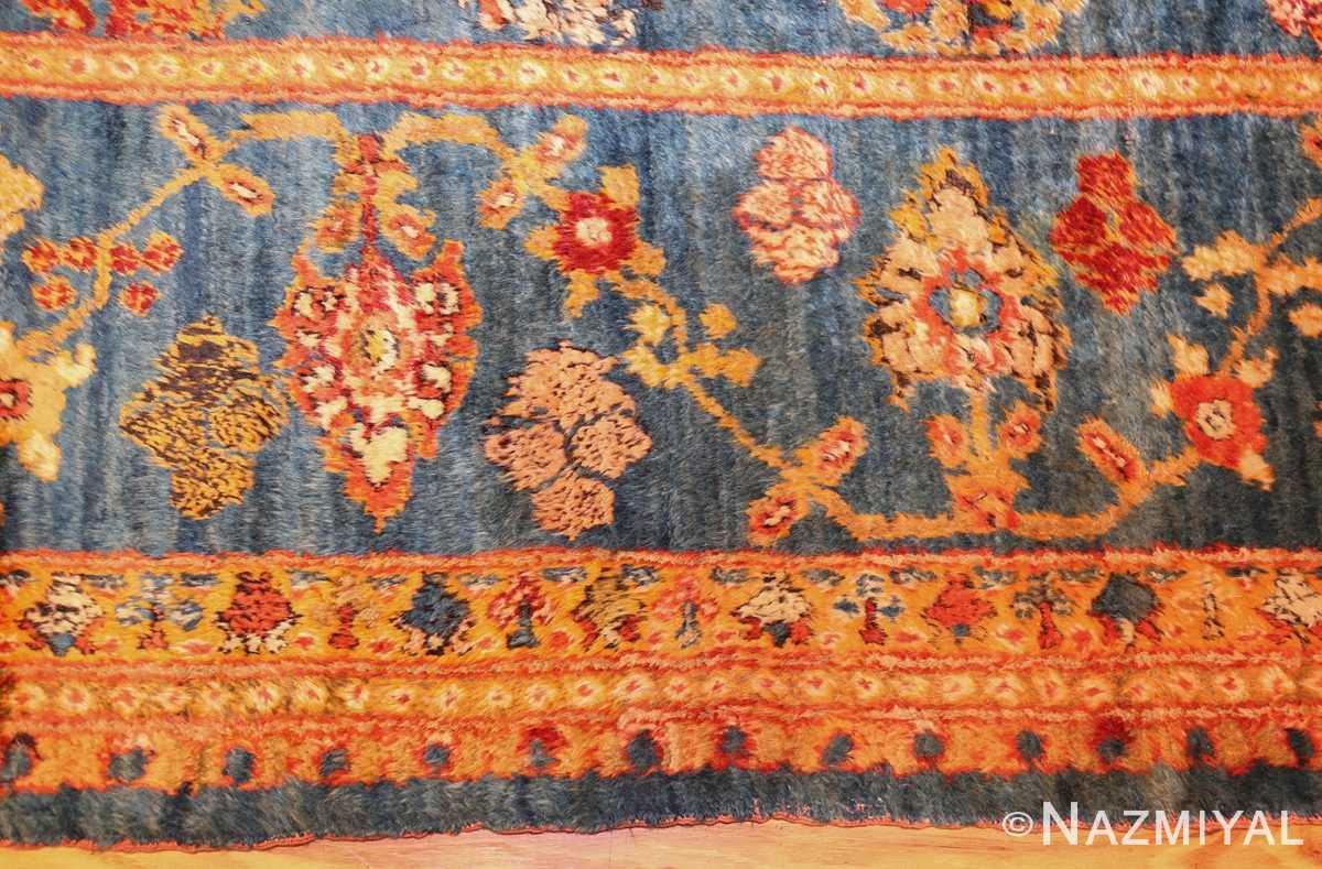 breathtaking light blue angora oushak rug 49111 border Nazmiyal