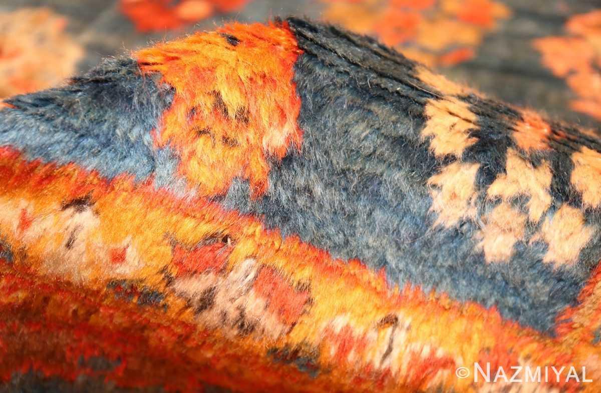 breathtaking light blue angora oushak rug 49111 pile Nazmiyal