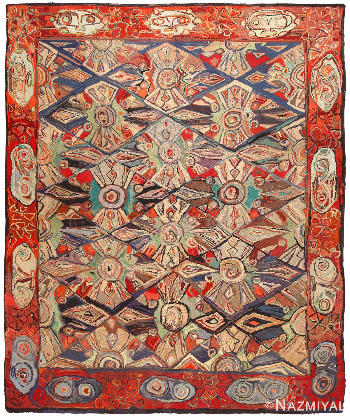Hooked Rug 50562 By Nazmiyal Antique Rugs