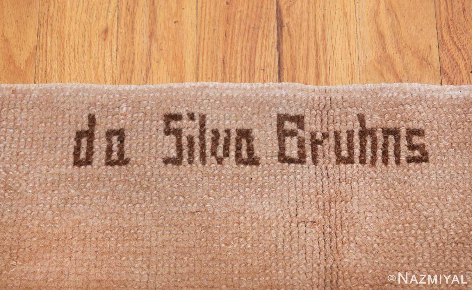 french art deco rug by ivan da silva bruhns 49081 signature Nazmiyal