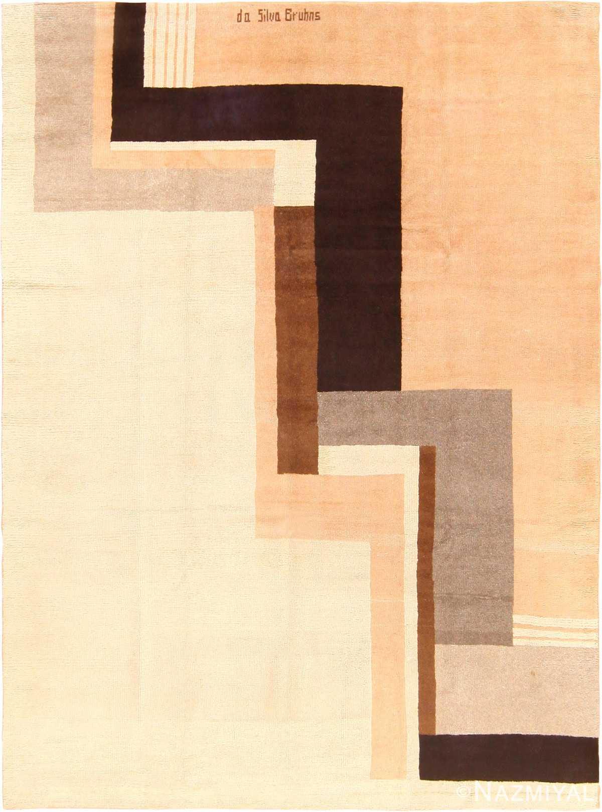 French Art Deco Rug Ivan de Silva Bruhns 49081