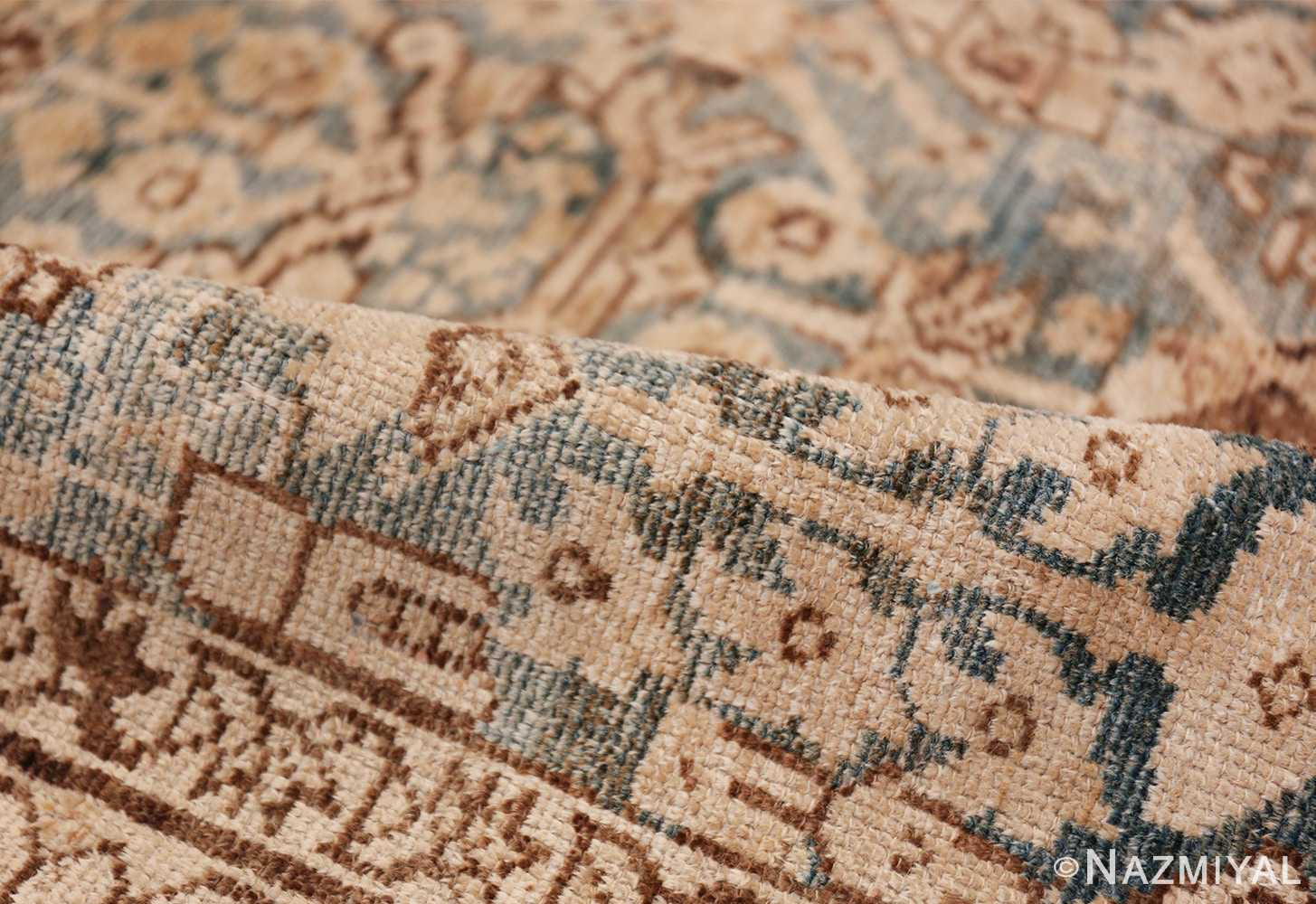 Gallery Size Shabby Chic Antique Persian Malayer Rug 50543 Blue Pile Nazmiyal