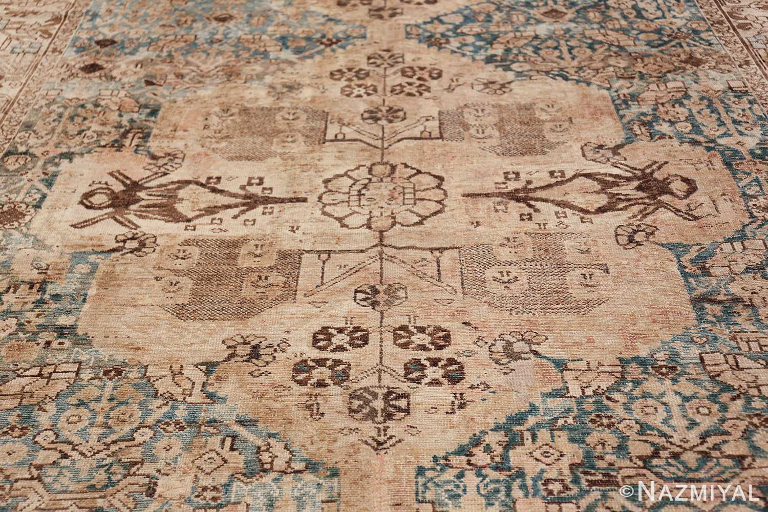 Gallery Size Shabby Chic Antique Persian Malayer Rug 50543 Central Medallion Nazmiyal