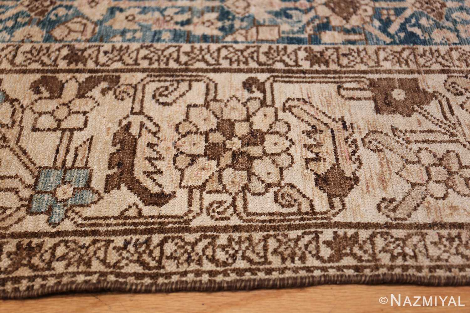 Gallery Size Shabby Chic Antique Persian Malayer Rug 50543 Earth Tone Border Nazmiyal