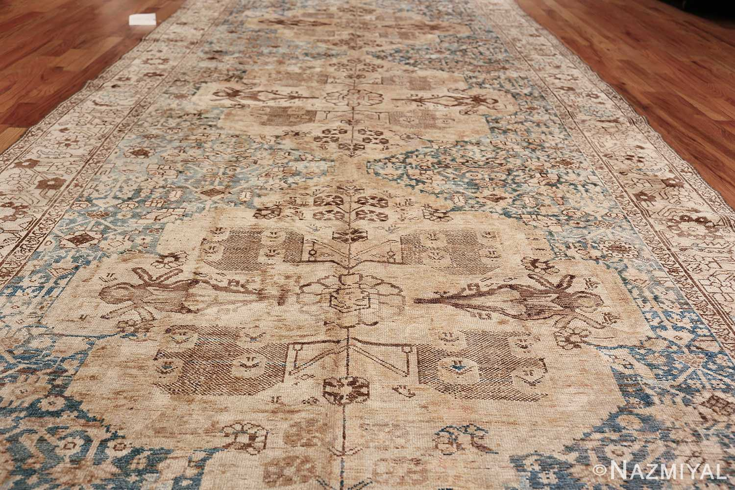 Gallery Size Shabby Chic Antique Persian Malayer Rug 50543 Field Design Nazmiyal