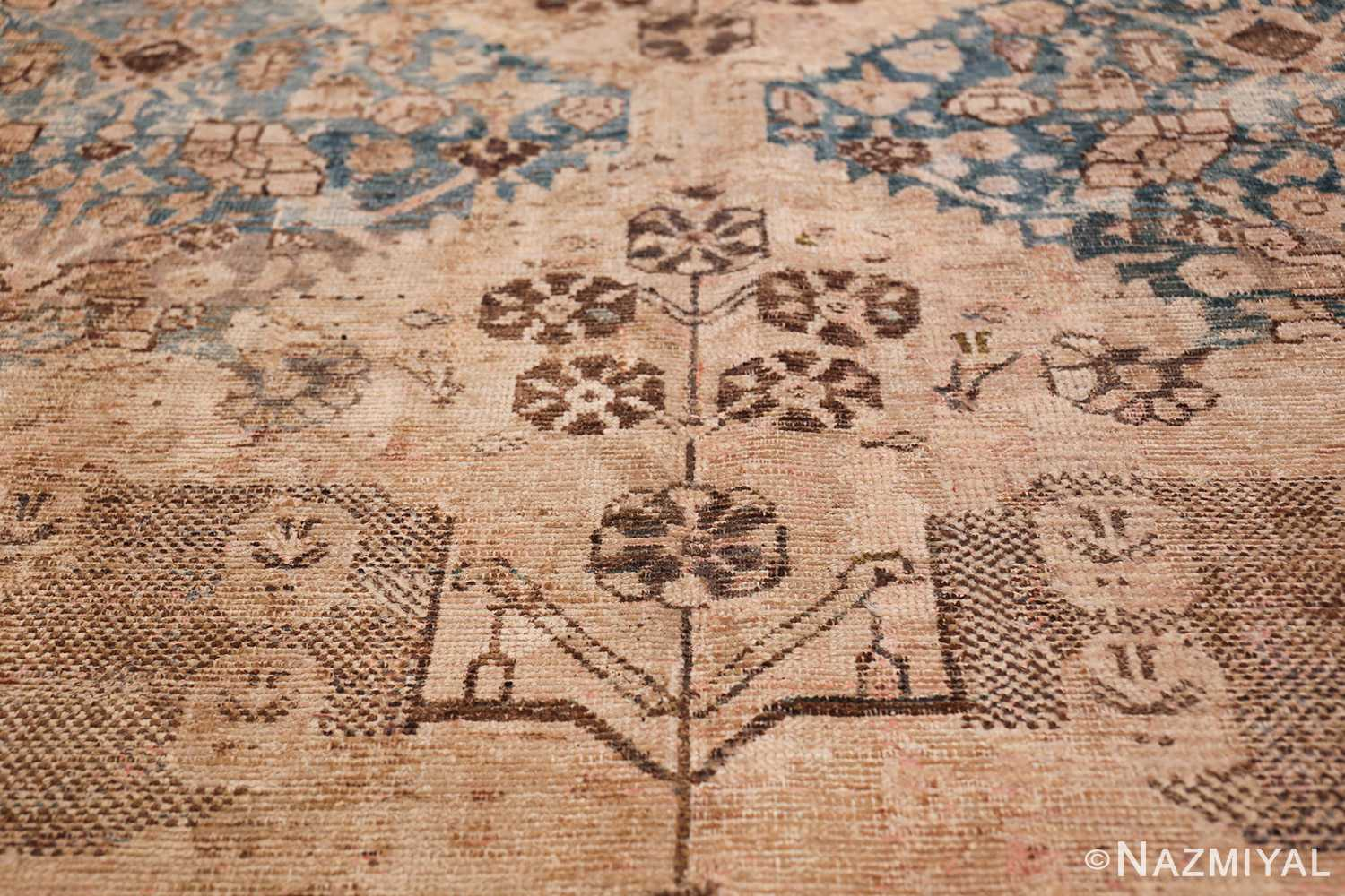 Gallery Size Shabby Chic Antique Persian Malayer Rug 50543 Flowers Nazmiyal