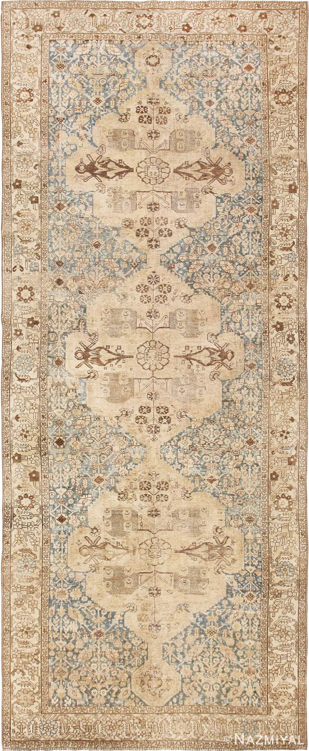 Gallery Size Shabby Chic Antique Persian Malayer Rug 50543 by Nazmiyal Antique Rugs in NYC