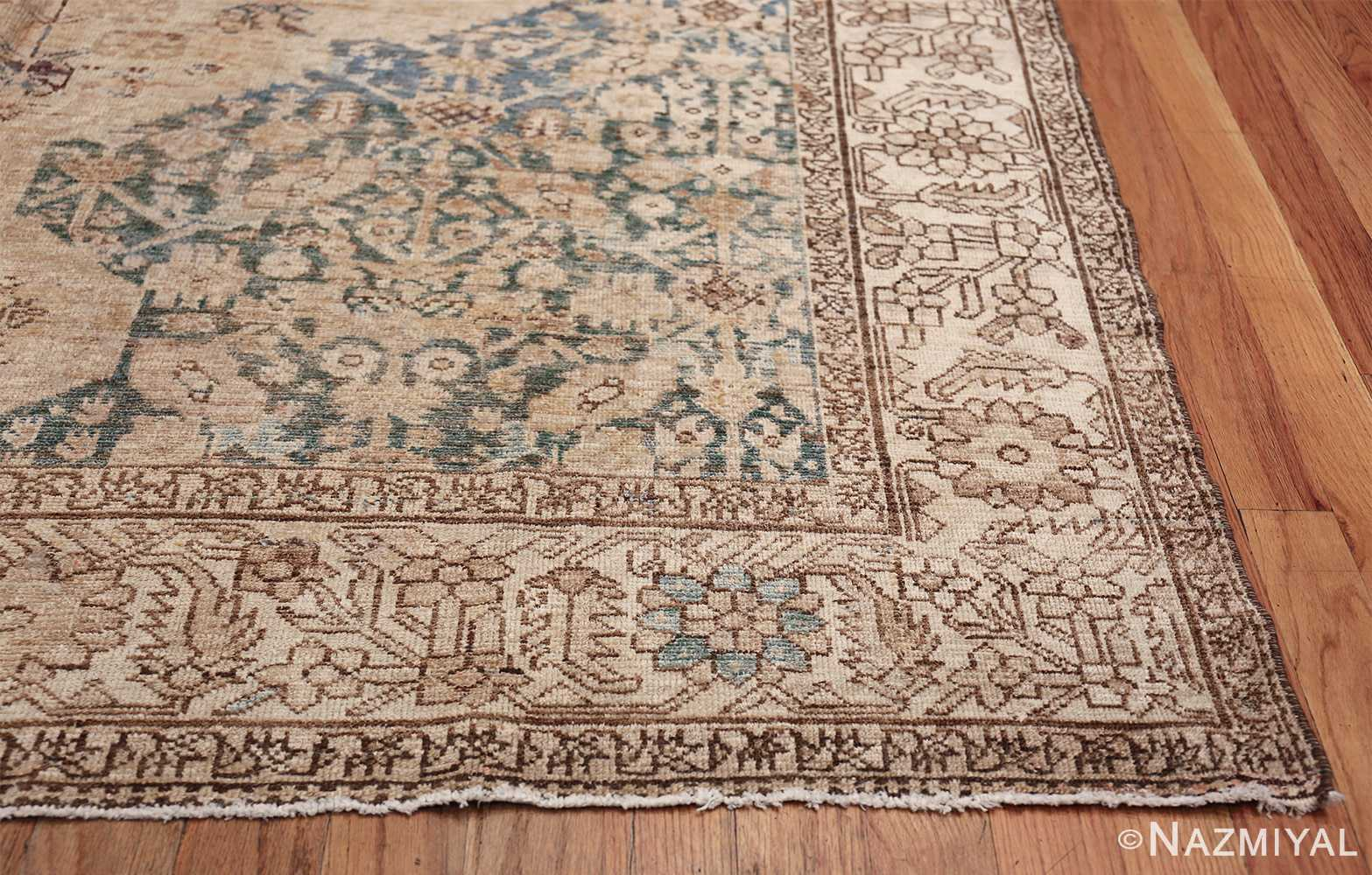 Gallery Size Shabby Chic Antique Persian Malayer Rug 50543 Side Corner Nazmiyal
